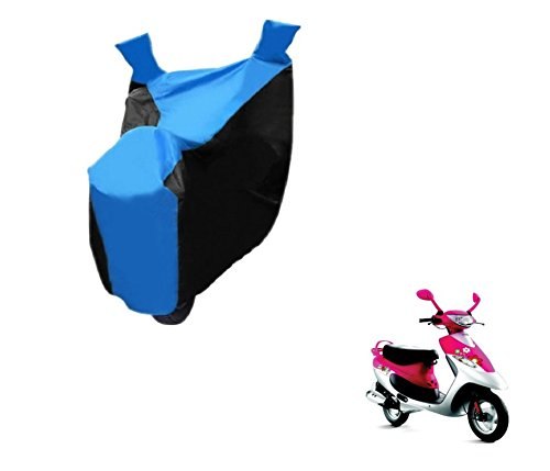 Auto Hub Bike Body Cover For TVS Scooty Pep Plus - Black/Blue  available at amazon for Rs.299