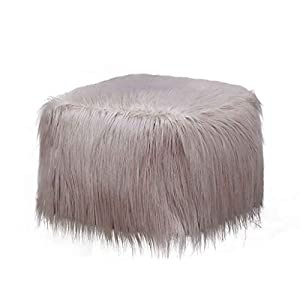 Notdark Plüsch Aufblasbare Sofas Hocker Tragbar Einfarbig Weich Umfassen Hockertuch-Set+ PVC aufblasbarer Hocker+ Pumpe…