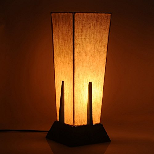 Hashcart 14 Inch Wooden Carved Table Lamp In Sheesham Wood - Indoor Lighting / Home Decorative Items / Gift Item / Night Lamp / Table Top / Study Lamp / Desk Lamp / Bedside Lamp / Corner Lamp / Decoration Items / Table Decor For Home Decor & Gift Items / Diwali Gift  available at amazon for Rs.1299