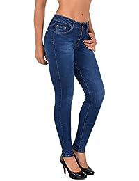 ddd596fbbeb3bc ESRA Damen Röhrenjeans Skinny Jeans Destroyed Jeanshose bis Übergröße ...