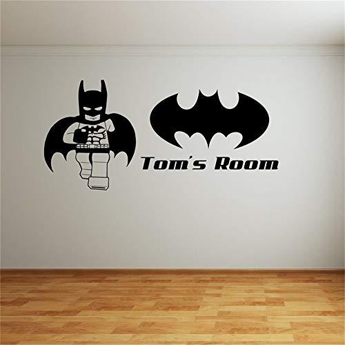 Wandtattoo Kinderzimmer Wandtattoo Schlafzimmer Batman Superheld Kinder Schlafzimmer Aufkleber Home Decor Cartoon niedlich