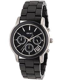 DKNY NY8314 - Reloj cronógrafo de cuarzo para mujer con correa de cerámica, color negro