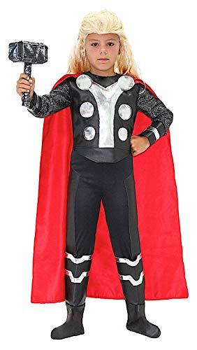 KOSTÜM FASCHING KARNEVAL MAN BOY HAMMER für KARNAVALKOSTÜME fancy dress halloween cosplay veneziano party 51047 Size - Thor Kostüm Boy