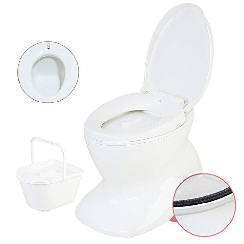 MyAou-commode Toilette Camping Léger et Portable Adapté à l'Intérieur et à l'Extérieur Utilisation de Loo Camping Caravane Pique-Nique Pêche et Festivals Blanc