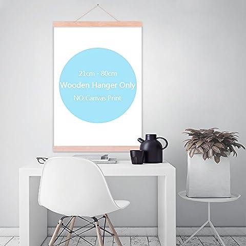 Poster sur toile illustrations Cintre en bois DIY Photo Peinture magnétique cadre en bois moderne Outil gratuit réutilisable A4A3A2A1, Ramin, 40cm