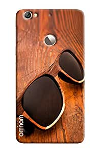 Omnam Black Shades With Wooden Frame On Wood Effect Printed Designer Back Cover Case For LeTv Le 1s