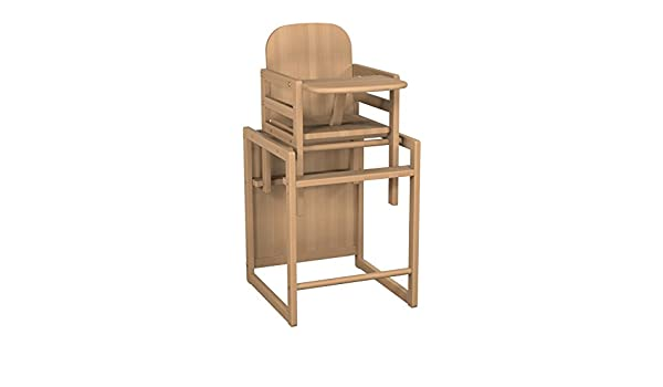 Ateliers T4 Chaise haute transformable Hêtre Naturel