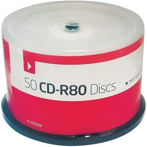 Blank Media - 50 dischi con registratore 700MB CD, CD-R