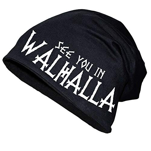 Spaß kostet Long Beanie Wikinger See You in Walhalla Größe XS-XXL