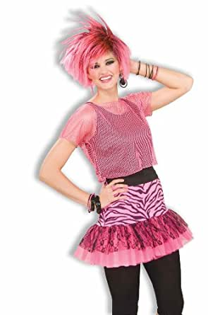 Forum Woman's Pop Party Zebra Print Skirt, Pink/Black, One Size