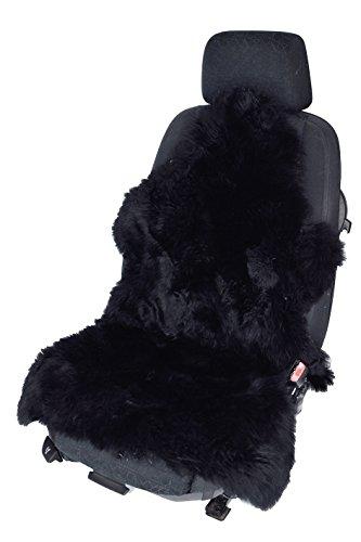 Leibersperger Felle Sitzauflage Autositzbezug Autofell Lammfell Naturform universell für Stoffsitze (schwarz)
