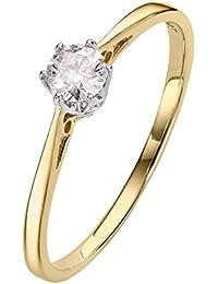 Anillo de compromiso con diamante solitario de 0,25 ct