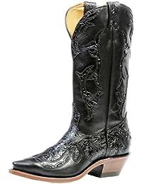 Botas de los EE.UU.-Botas, botas de cowboy BO-4321-50-C (pie normal) para mujer, color negro