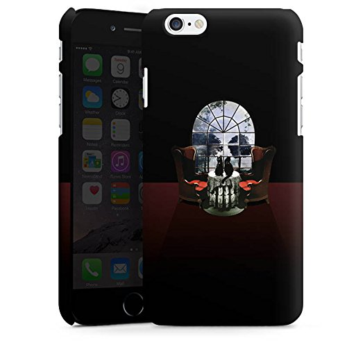 Apple iPhone 8 Hülle Case Handyhülle Raum Room Skull Totenkopf Premium Case matt