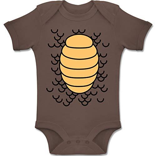 Shirtracer Karneval und Fasching Baby - Drachen Karneval Kostüm - 1-3 Monate - Braun - BZ10 - Baby Body Kurzarm Jungen (2 Mann Drachen Kostüm)
