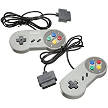 TRIXES 2 x Cojín de Juegos Retro SNES (Sistema de Entretenimiento Súper Nintendo) Compatible con Controlador de Reemplazo