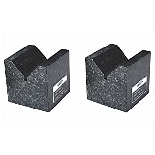 INSIZE 6897-2 Granite V-Block, Two Per Set, 100 mm x 70 mm x 50 mm