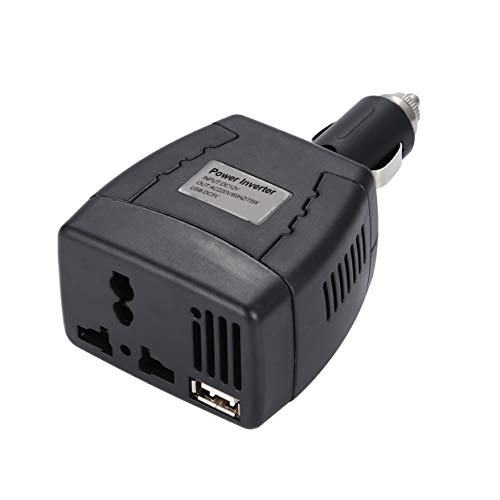 Tree-on-Life 75W Auto Wechselrichter DC12V bis 110V / 220V 50Hz Power Converter Laptop Zigarette Automobile Inversor mit USB-Ladegerät - 50hz Power Inverter