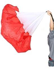 Well-dos sticks y una pelota 142,24 cm de balón de fútbol para entrenamiento Fitness trineos de cuello resistencia paracaídas taladro (rojo)