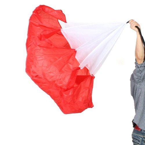 """Puits-objectif 56 """"Fitness Ballon de Football d'entraînement vitesse de Chute forets Sleds Parachute de résistance Rouge"""