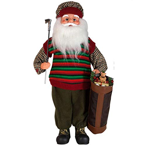 Unbekannt Weihnachtsmann Olaf 45 cm Golf Golfschläger Santa Claus Nikolaus Dekoration Weihnachten Winter