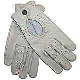 German Wear Driving Autofahrer-Handschuhe Lederhandschuhe, Größe:8=M, Farbe:Elfenbein