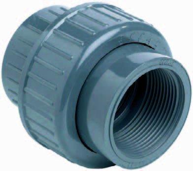 PVC Kupplung mit beidseitigem Innengewinde (1 Zoll)