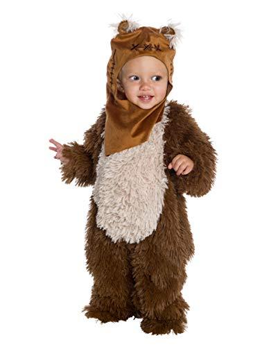 Kostüm Kind Ewok - Horror-Shop Star Wars - Kuscheliges Ewok Kostüm für Kinder für kleine Weltraumhelden Kleinkind (3-4 Jahre)