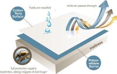 Avighna Original 100 % Waterproof Double Bed Mattress Protector Size 72×78 inch