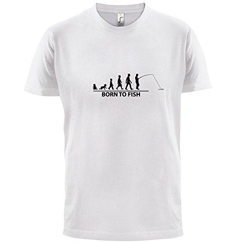 Born To Fish - Herren T-Shirt - 13 Farben Weiß