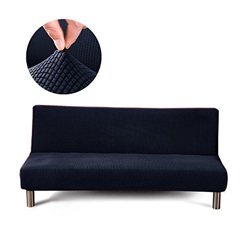 Cornasee Jacquard Sofabezug 3 sitzer ohne armlehne - elastisch gestrickte Schonbezug Sofahusse für Schlafsofa/Clic Clac, Marineblau