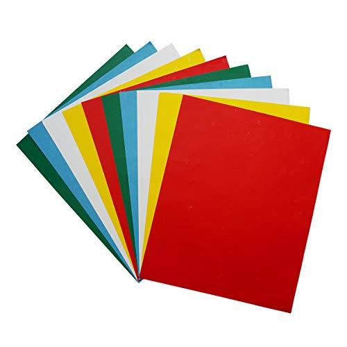 YXJD 10 Blatt Kohlepapier Farbiges Transferpapier Pauspapier 23 x 28cm für Holz Papier Segeltuch Stoff in 5 Farben