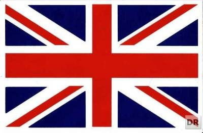 Bandiera Inghilterra GB Regno Unito Union Jack Sticker Adesivo Pellicola 1foglio 270mm x 180mm Resistente agli agenti atmosferici