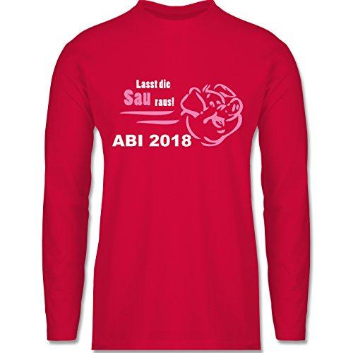 Shirtracer Abi & Abschluss - Lasst Die Sau Raus - Abi 2018 - Herren Langarmshirt Rot