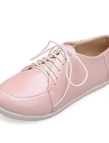 ZQ Scarpe Donna - Stringate - Casual - Punta arrotondata - Piatto - Finta pelle - Blu / Rosa / Bianco , pink-us8 / eu39 / uk6 / cn39 , pink-us8 / eu39 / uk6 / cn39 white-us7.5 / eu38 / uk5.5 / cn38