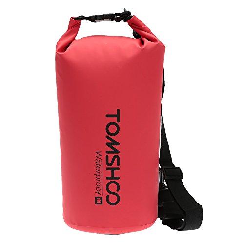 TOMSHOO Dry Bag Waterproof 10L / 20L Outdoor Dry Sack Storage Bag for Travelling Rafting Boating Kayaking Canoe Camping Snowboarding with Waterproof Phone Bag