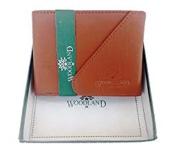 WOODLAND TAN CUT LEATHER WALLET
