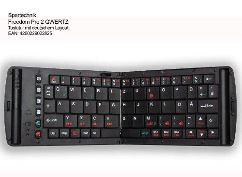 """Freedom Pro 2 Keyboard 2013: Bluetooth Tastatur """" PRO 2"""" mit deutschem Layout (QWERTZ) - für Netbook Smartphone Tablet Handy Mobiltelefon, zB Blackberry, HTC, Apple iphone ipad…."""