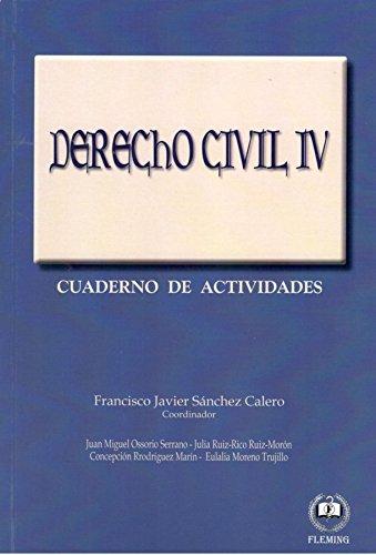 Derecho civil IV: Cuaderno de actividades