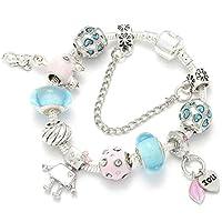 72a5fa1fcaec QWERST Bracelet Encanto Pulseras Colocar Original Encanto Cadena Serpiente para  Mujeres Bellas Pulseras