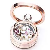 Desberry Unicorn colgante moda unicornio colgante collar de la joyería para niñas Regalo de las mujeres medallón oro rosa con swarovski crystal 4 encantos incluyen