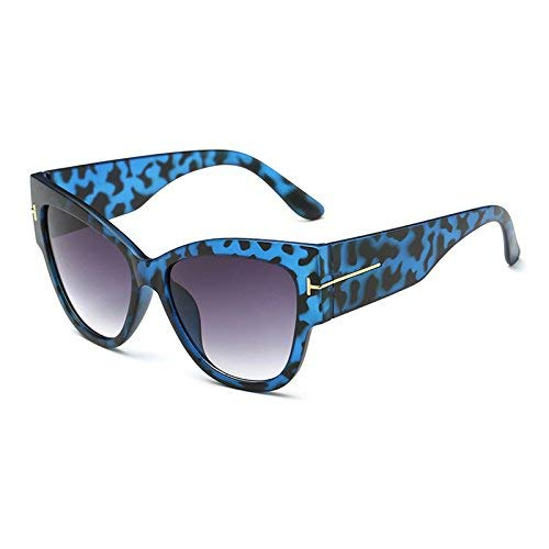 Young shinee Sportbrillen 2016 Cat Eye tf Sonnenbrille Frauen Markendesigner Vintage Luxury Street Snap Sonnenbrille Retro De Sol Feminino Gafas (Farbe : BL96894 C5 Blue Lep)