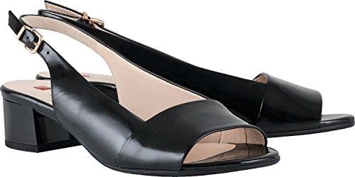 Högl 5-10 2104 0100, Scarpe con Cinturino alla Caviglia Donna Nero (Schwarz)