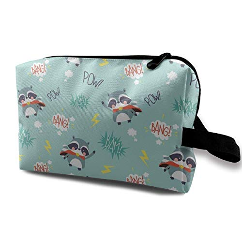 Super Racoon Bang! Pow! Portable Travel Makeup Cosmetic Bags Organizer Multifunction Case Toiletry Bags