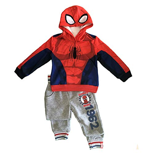Tuta spiderman felpata mis. 3 4 5 6 7 anni (5 anni (110 cm), grigio)