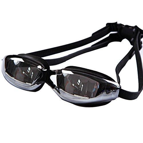 BUKUANG Männer Badehose Brillen Für Erwachsene Anzug Schwimmbrille Galvanik Großen Kasten PU-wasserdichte Badekappe Badeanzug E