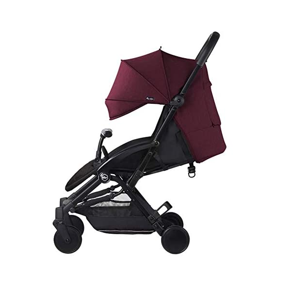 WFCVS Pushchairs Stroller Trolley Sit Lie Shockproof Ultra Light Folding Parachute Car 0-3 Years Old On Board,Claret WFCVS Trolley type: boarding trolley Basket fabric: Oxford cloth / age: 1 months ~4 years old Color classification: black, blue, gray, wine red. Frame material: aluminum alloy / bearing: 25kg Types of wheels for children's cars: natural rubber 1