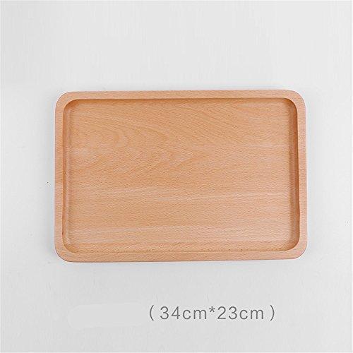 Massivholz Tee Tablett spleißen Teller Square/Buffet platte Dessertteller Fach Frühstücksteller, B (Spleißen Fach)