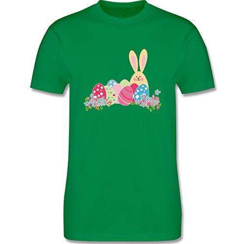 Ostern - Osterhase mit Eiern - Herren Premium T-Shirt Grün