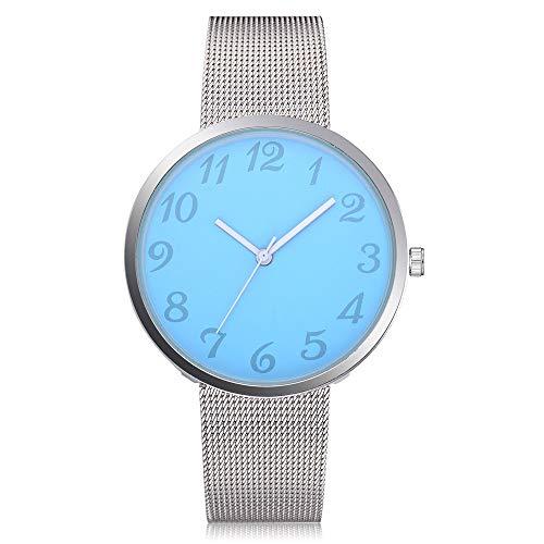 Damen-Uhren Quarzuhr Ziffern Casual Quarz Mesh Gürtel Analog Armbanduhr Frauen Mädchen Schöne Mode Design Edelstahl Analoge Quarz Armbanduhr Uhr